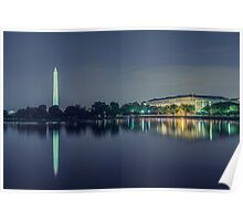 Washington Memorial from the Jefferson Memorial Site Poster