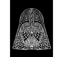 Celtic Darth Vader Photographic Print