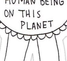 Most Awkward Human Being Award Sticker