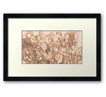 Art compilation banner (2013-2014) Framed Print