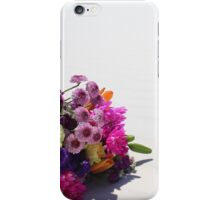 Rainbow Flowers In white sands iPhone Case/Skin