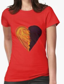 Follow the Path Heart Womens Fitted T-Shirt