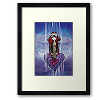 Girl Quirky—Aviator of the Heart Framed Print