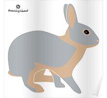lilac tan rabbit Poster