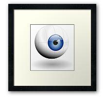Blue eye ball Framed Print