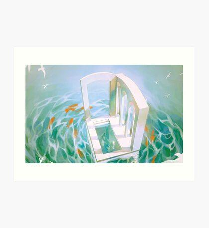 diver's abode. Art Print