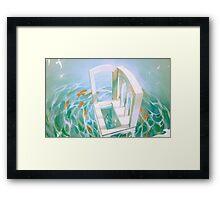 diver's abode. Framed Print