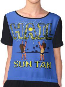 Hail Sun tan  Chiffon Top