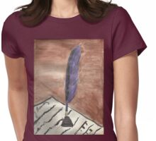 Purple Quill Love Letter Womens Fitted T-Shirt