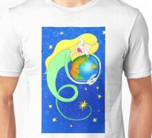 aquarius woman embracing the world Unisex T-Shirt