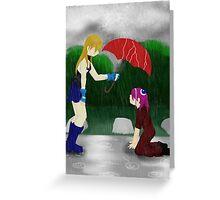 An Umbrella in the Rain Greeting Card