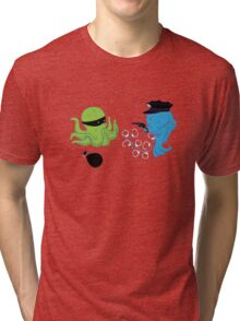 Funny Fish And Octopus Tri-blend T-Shirt