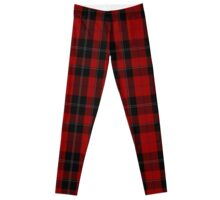 00097 Ramsay (Red) Clan/Family Tartan  Leggings