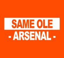 """Team Arsenal: """"SAME OLE ARSENAL"""" (light shades) Kids Tee"""