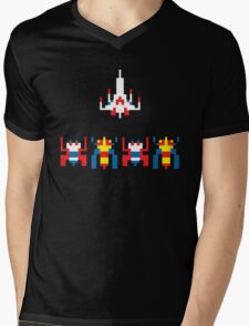 Galaga Game Mens V-Neck T-Shirt