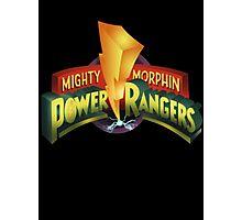 Mighty Morphin Power Rangers Logo Photographic Print