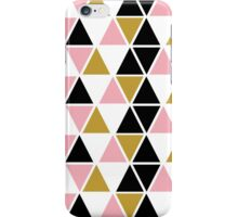 Pink, Gold, & Black Triangle iPhone Case/Skin
