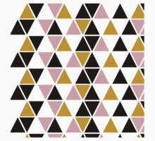 Pink, Gold, & Black Triangle Kids Tee