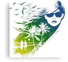cool summer Canvas Print