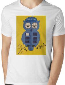 WHO OWL Mens V-Neck T-Shirt