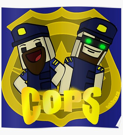 Unturned -  (Cops) - by Quikdraw Poster