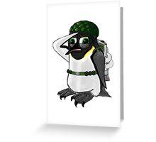Penguin of Militaristic Might Greeting Card