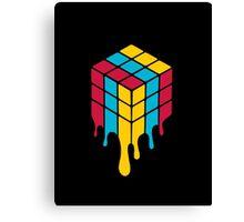 the Melting Rubik Canvas Print