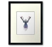 Space Deer Framed Print