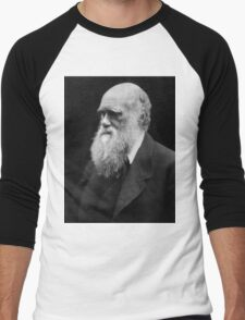 Darwin portrait Men's Baseball ¾ T-Shirt