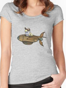 Paper Derpy in a Mini-Blimp Women's Fitted Scoop T-Shirt