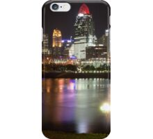 Downtown Cincinnati at Night from the River iPhone Case/Skin