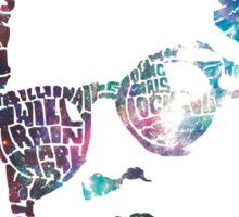 Bruno Mars Typhography Sticker
