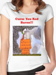Curse you Red Baron! Women's Fitted Scoop T-Shirt