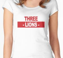 "Team England: ""THREE LIONS"" (light shades) Women's Fitted Scoop T-Shirt"