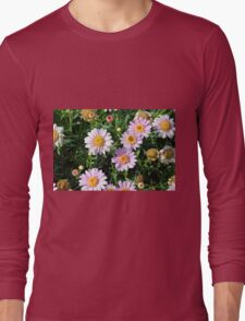 Beautiful light pink flowers natural background. Long Sleeve T-Shirt