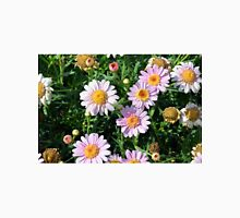 Beautiful light pink flowers natural background. Unisex T-Shirt