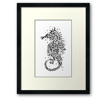 Sugar Skull Seahorse Framed Print