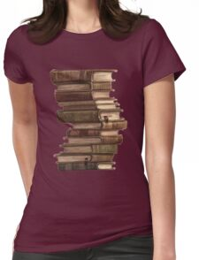 Stack of Books Womens Fitted T-Shirt