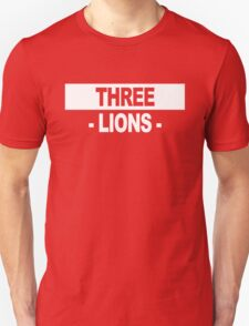 "Team England: ""THREE LIONS"" (dark shades) Unisex T-Shirt"