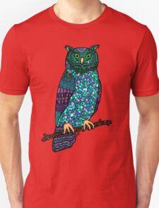 Patterned Owl Unisex T-Shirt