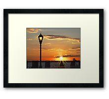 Battery Park Sunset Framed Print