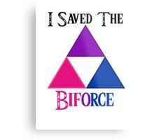 I Saved The Bi-force Metal Print