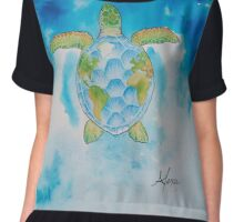 Earth Day  Chiffon Top