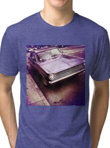 Purple Dodge Vintage Muscle Car Tri-blend T-Shirt