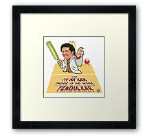 The Little Jedi Master Framed Print
