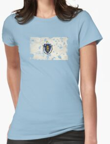 Massachusetts Splatter Womens Fitted T-Shirt