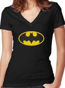 batman original t-shirt Women's Fitted V-Neck T-Shirt