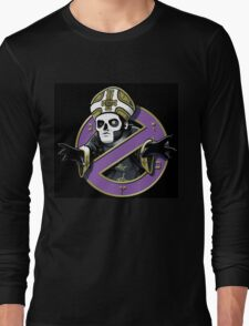 ghost bc black cartoon Long Sleeve T-Shirt