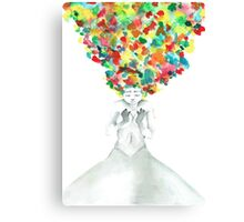 A little bit of darkness in so many colors Canvas Print
