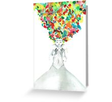 A little bit of darkness in so many colors Greeting Card